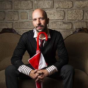 Neil STRAUSS sitting on couch for French Press